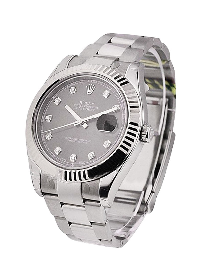 Rolex Unworn Datejust II in Steel with Fluted Bezel