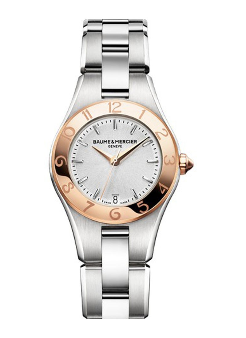 Baume & Mercier Linea Ladies Two Tone in Steel and Rose Gold Bezel