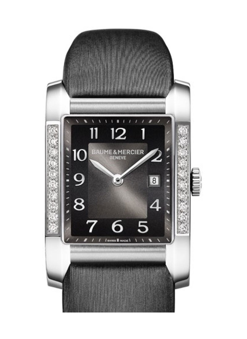 Baume & Mercier Hampton Classic in Steel with Partial Diamond Bezel