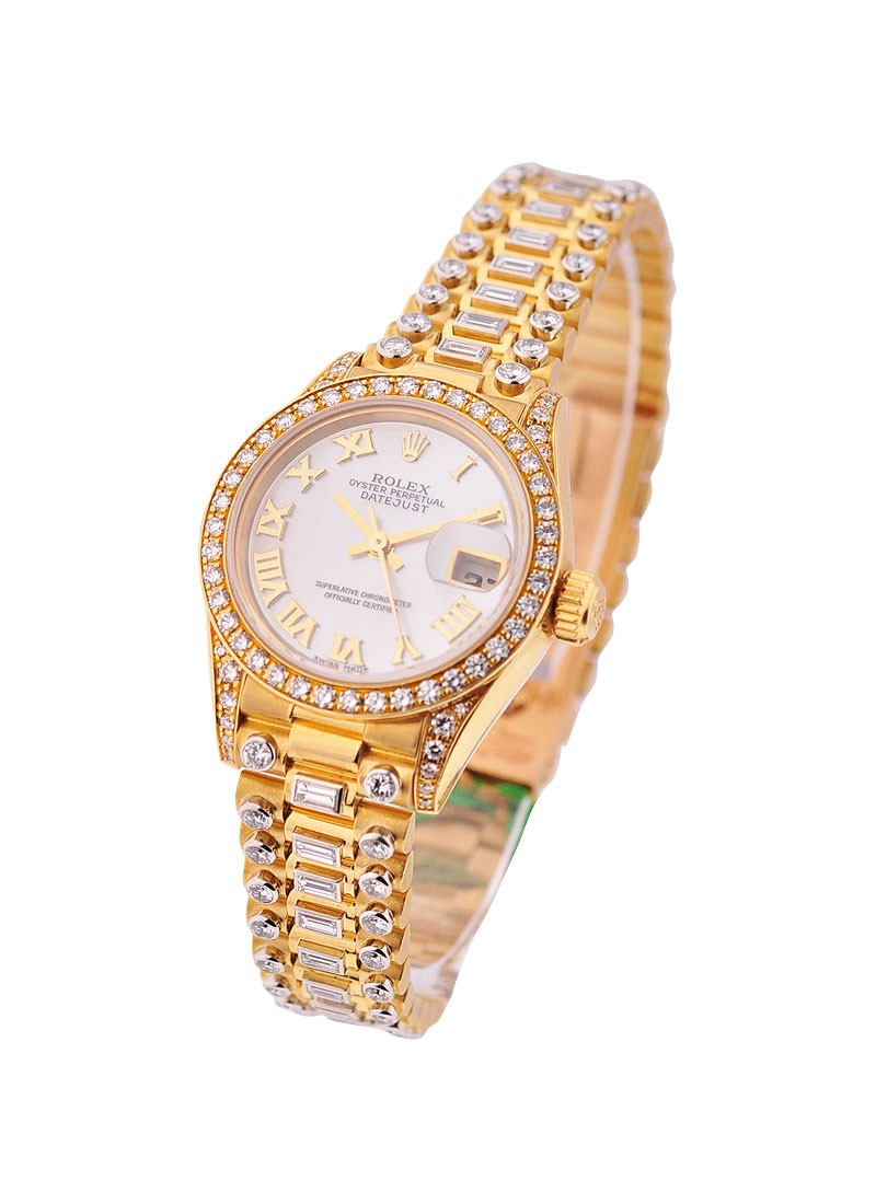 Rolex Unworn President 26mm Crown Collection in Yellow Gold with Diamond Bezel