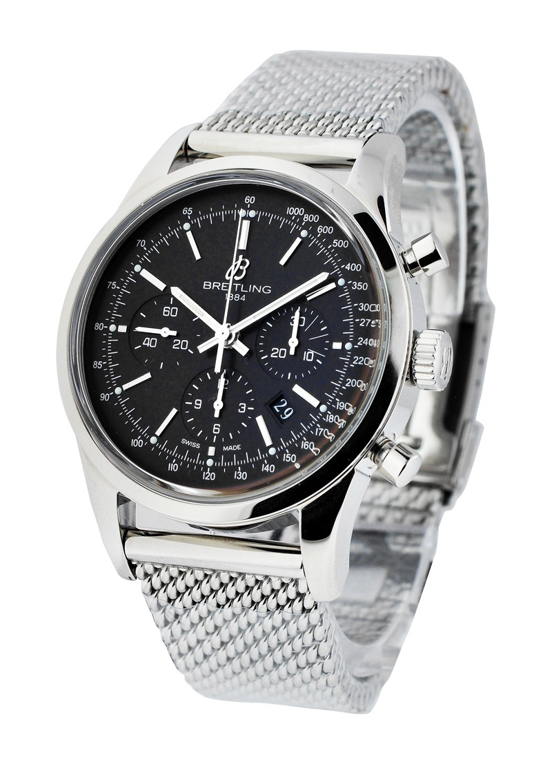 Breitling Transocean Chronograph  in Steel