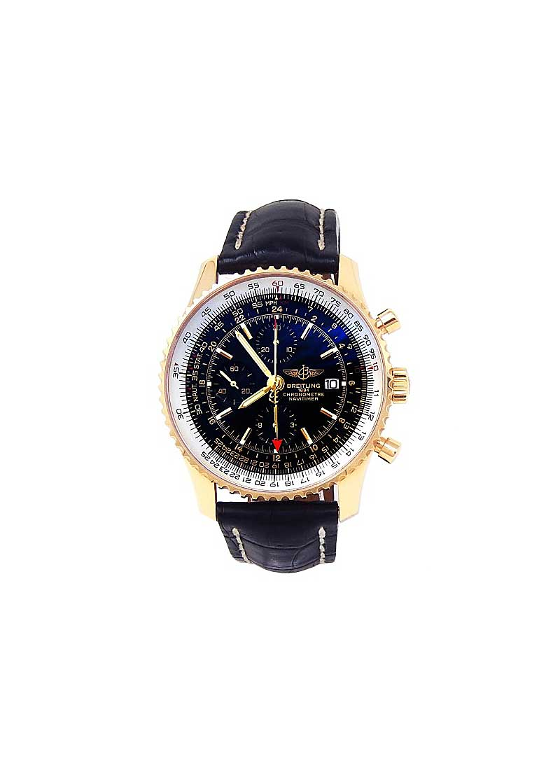Breitling Navitimer World Chronograph 46mm Automatic in Yellow Gold