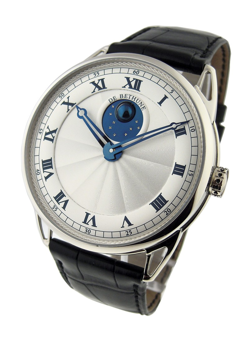 Debethune DB25 Ball Moonphase in White Gold