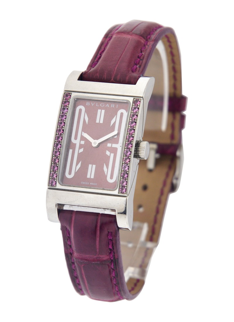Bvlgari Women's  Rettangolo with Purple Sapphires