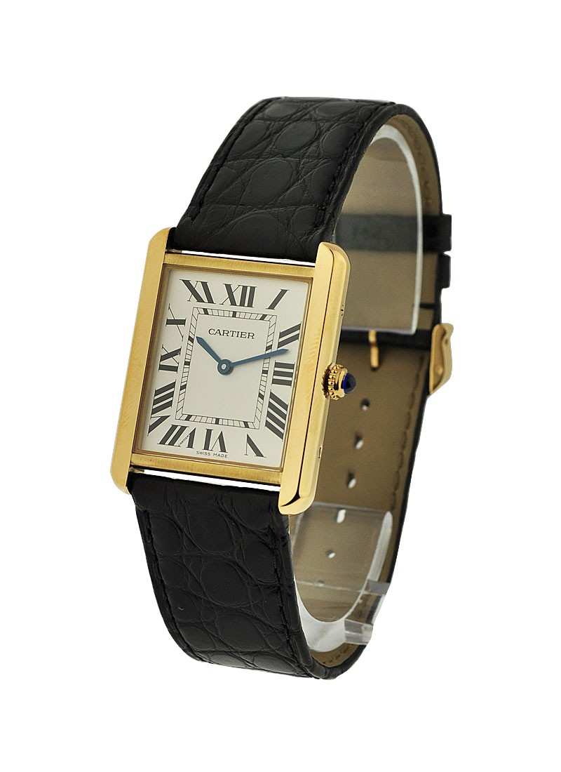Cartier Tank Solo Quartz in Yellow Gold- Unisex