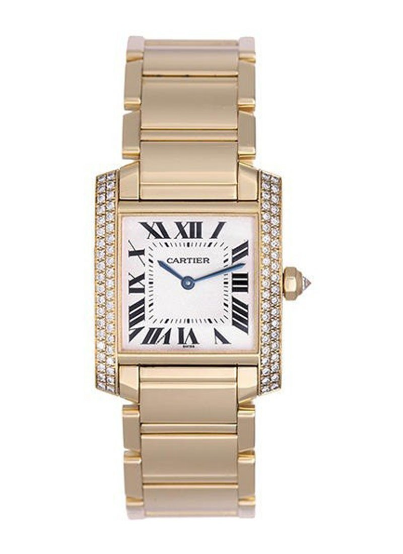 Cartier Midsize Tank Francaise in Yellow Gold
