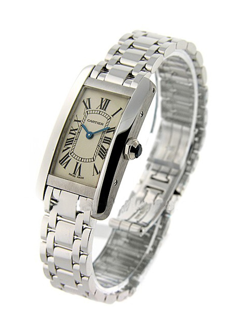 Cartier Tank Americaine Small Size in White Gold