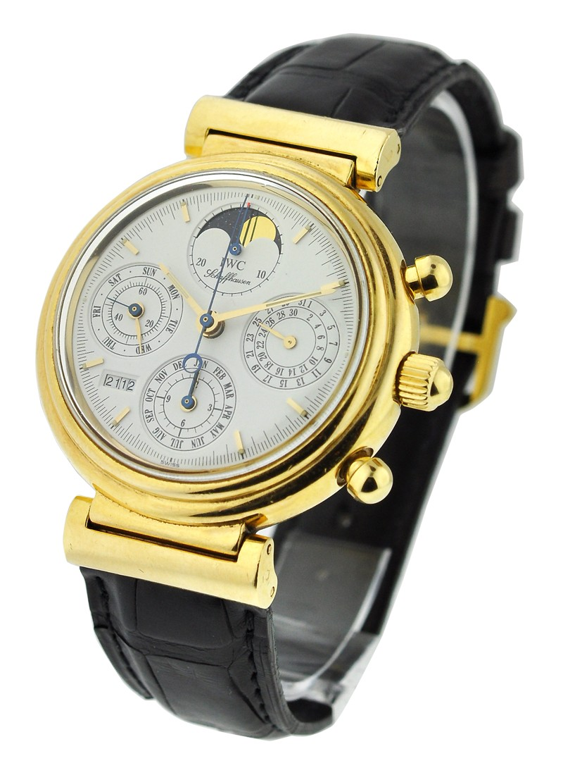 IWC Da Vinci Perpetual Calendar Chronograph in Yellow Gold