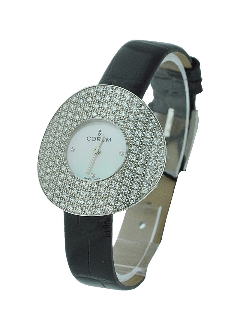 Corum Chinese Hat lady's in White Gold with Diamond Case