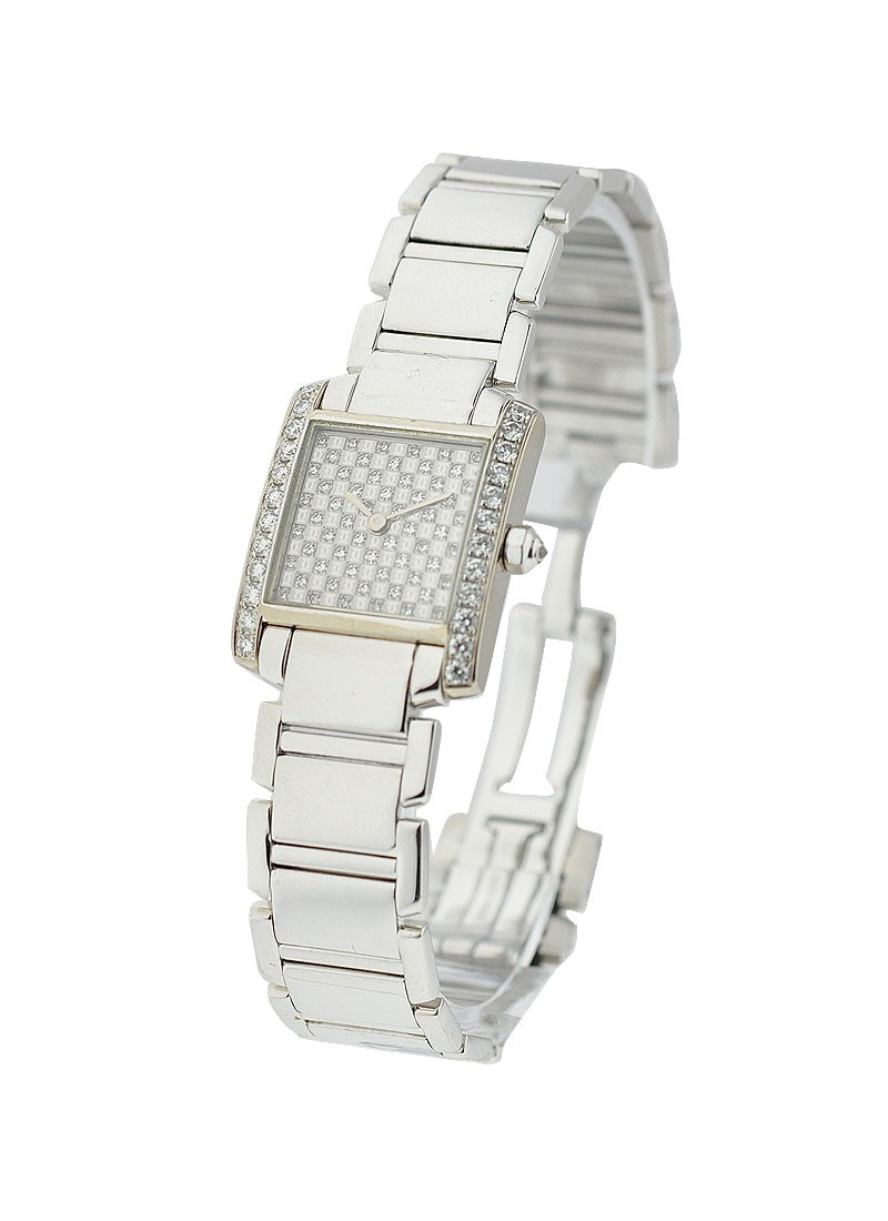 Cartier Tank Francaise Small Size with Pave Diamond Dial