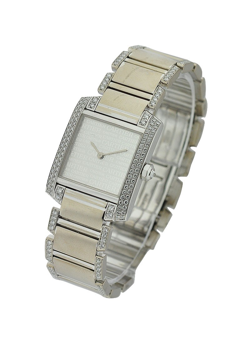 Cartier Mid Size Tank Francaise with Diamond Bracelet