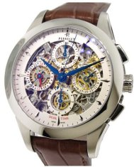 Perrelet Chronograph Skeleton Dual Time Men's  in Steel