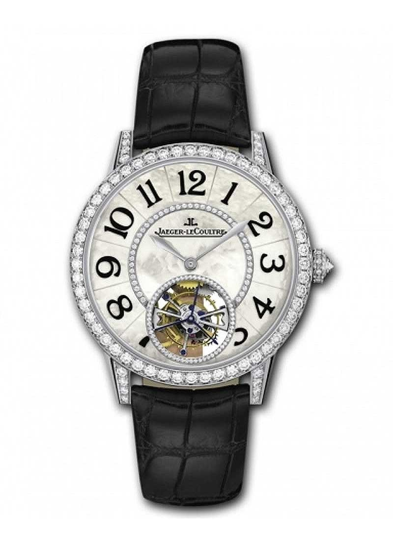 Jaeger - LeCoultre Master Tourbillon in White Gold with Dimaond Bezel