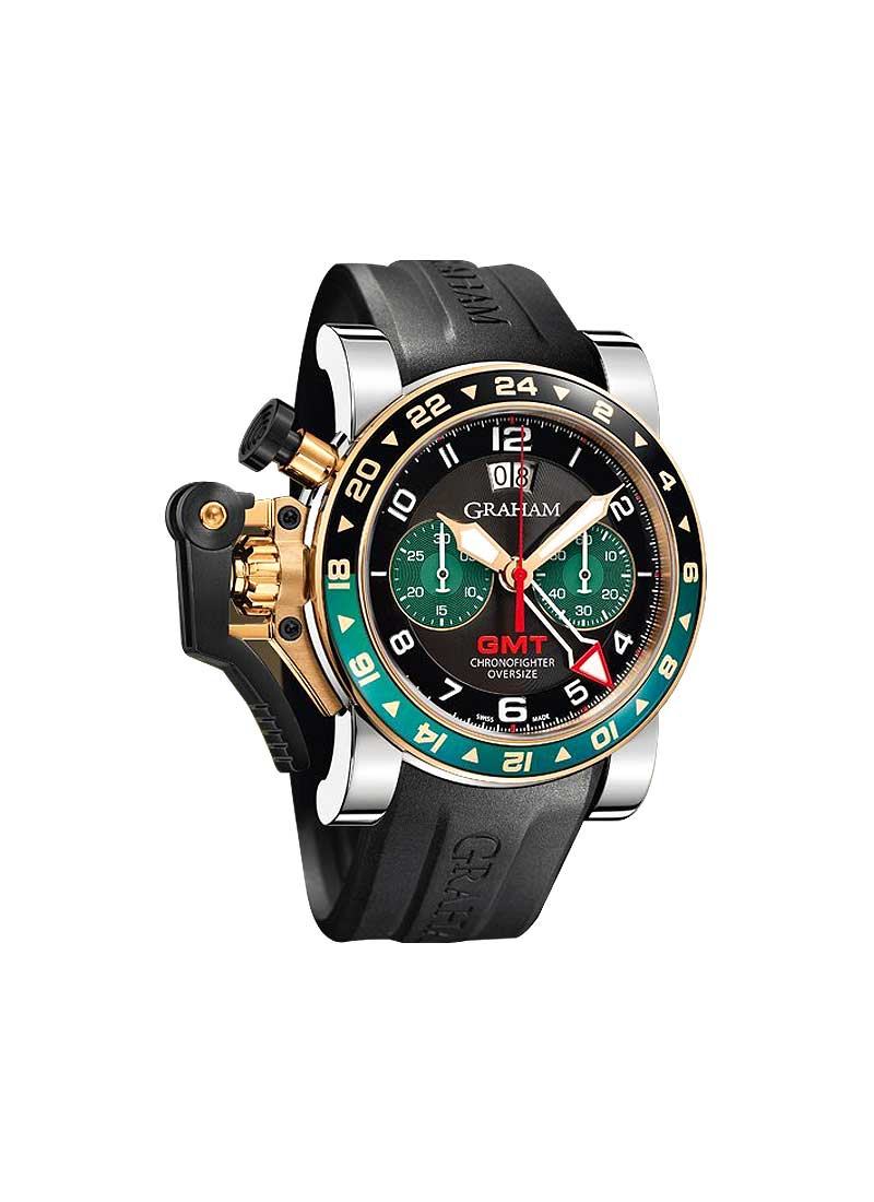 Graham Chronofighter Oversize GMT Two Tone in Rose Gold with PVD