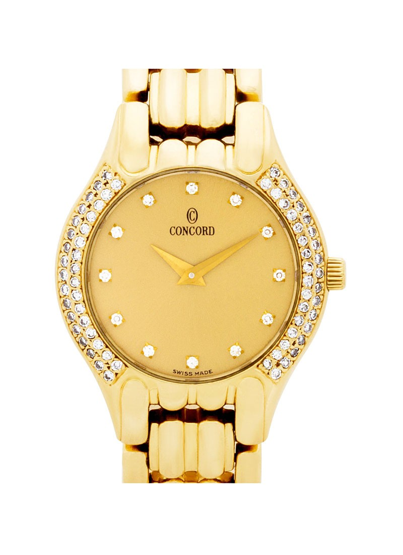 Concord Les Palais in Yellow Gold with Diamond Bezel
