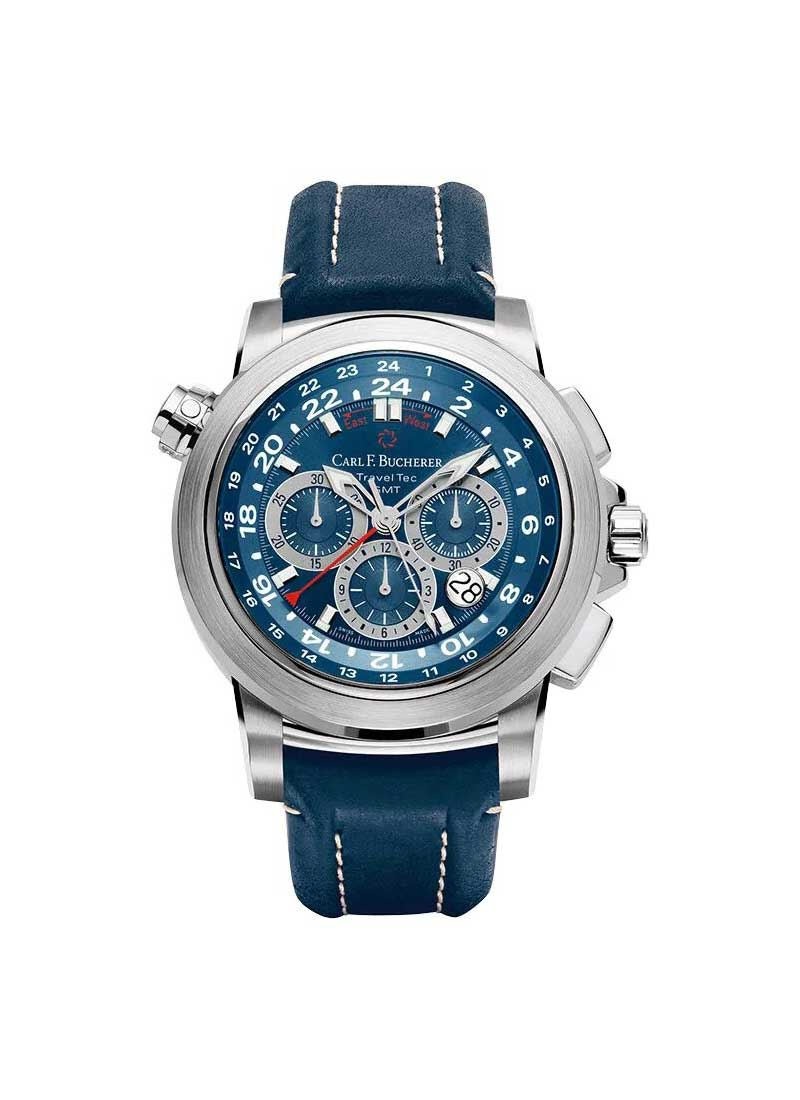 Carl F. Bucherer  Patravi Traveltec Men's Automatic in Steel