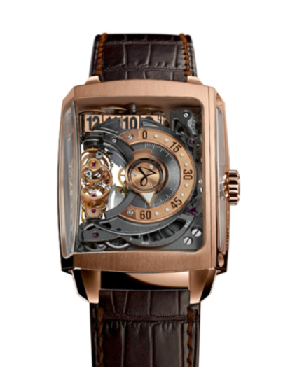 Hautlence HL2.2 JumpHours, Retrograde Minutes, Power Reserve 45-hours  52mm in Rose Gold