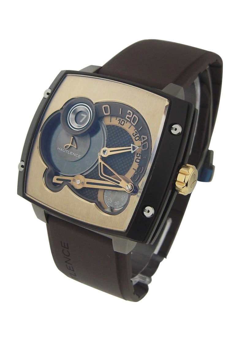 Hautlence HLS Mens  Manual in Titanium and Rose Gold