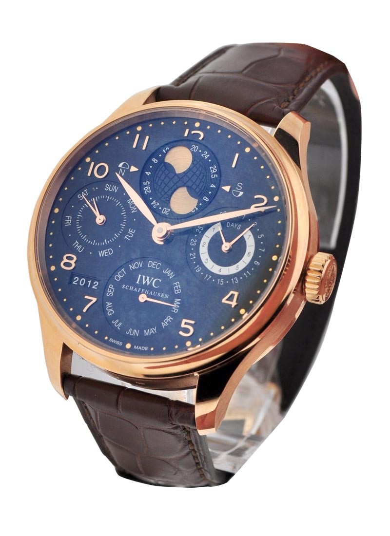 IWC Portuguese Perpetual Calendar Double Moon in Rose Gold