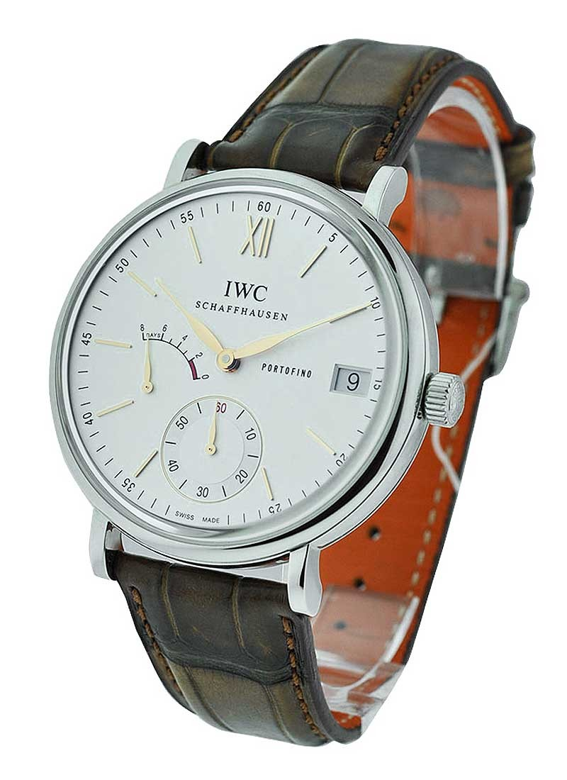 IWC Portofino Hand Wound 8 Days in Steel