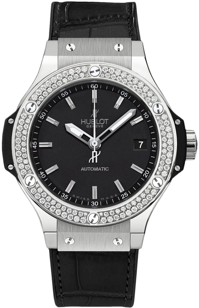 Hublot Big Bang 38mm in Steel with Diamond Bezel