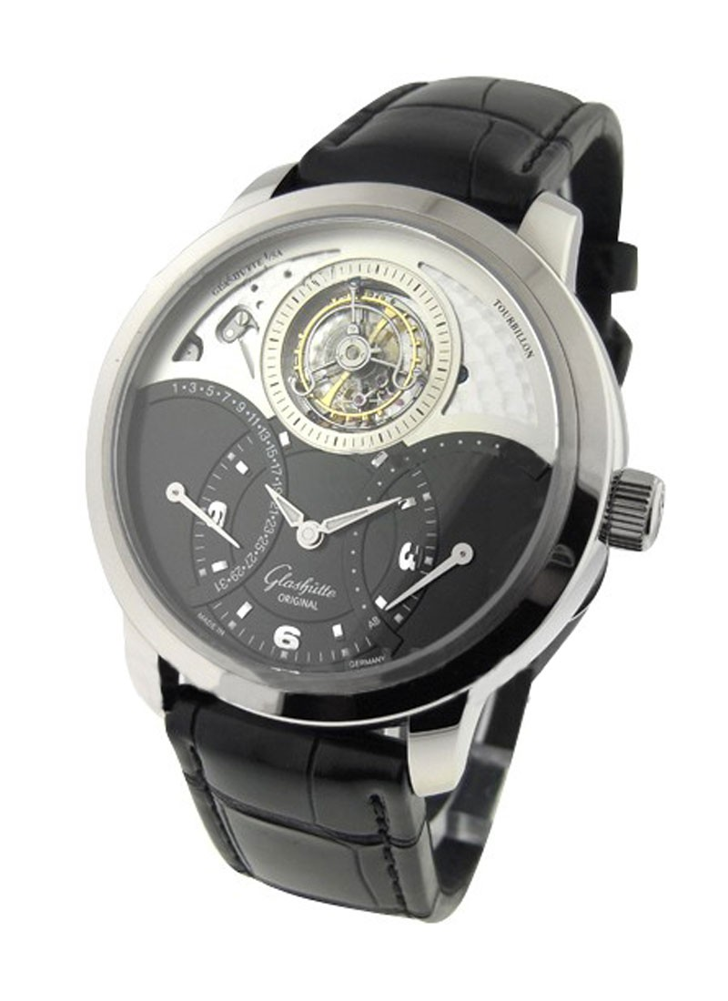 Glashutte Glashutte Original PanoTourbillon XL in White Gold