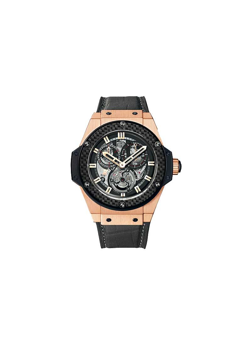 Hublot King Power Gold Minute Repeater Chrono Tourbillon in Rose Gold with Carbon Fiber