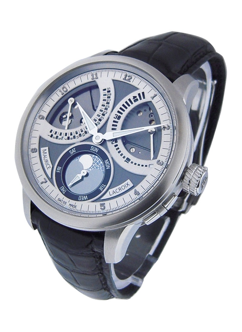 Maurice Lacroix Masterpiece Lune Retrograde in Steel