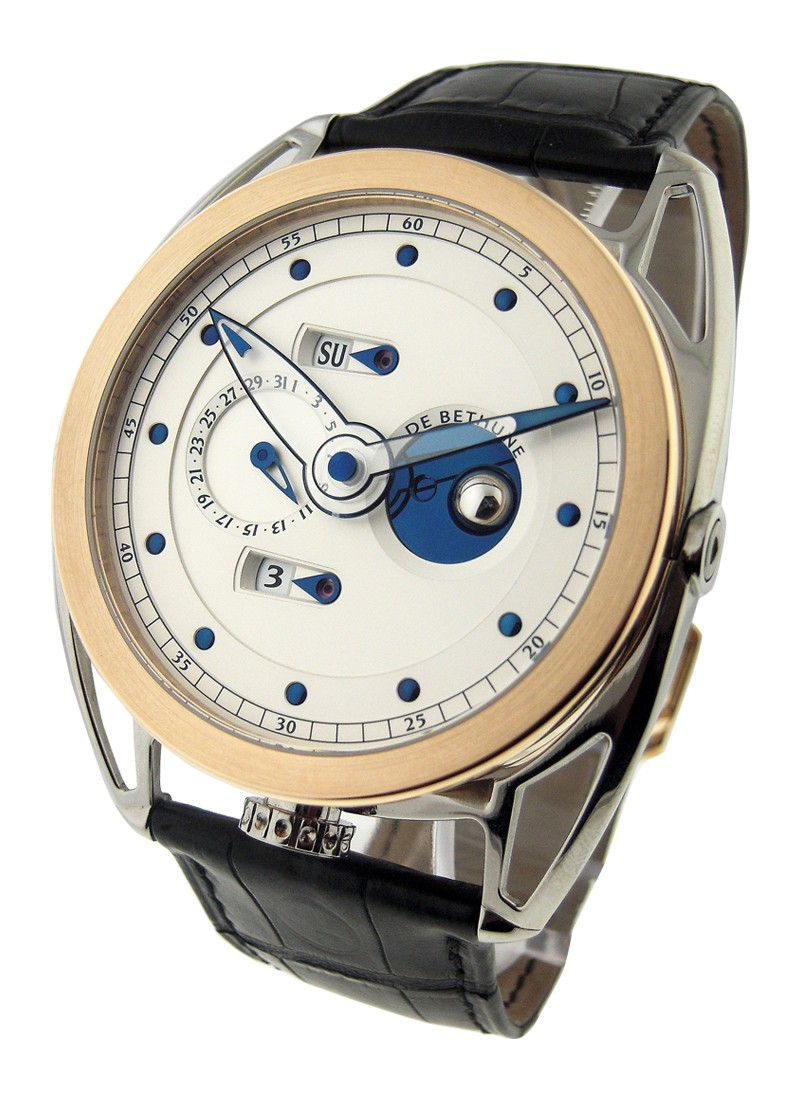 Debethune Perpetual Calendar Three Dimensional Moon Phase in Rose God and Titanium