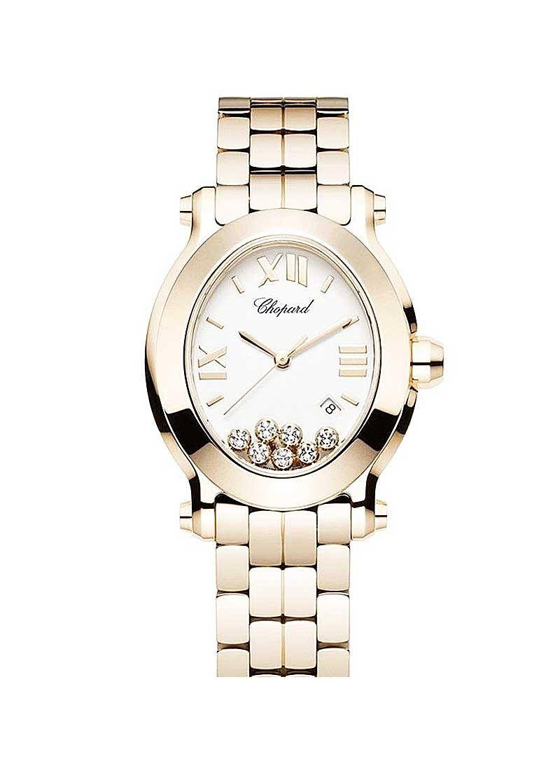 Chopard Happy Sport II Oval in Rose Gold
