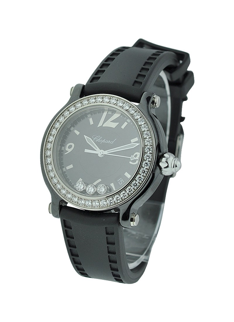 Chopard Happy Sport Happy Black in Ceramic with Diamond Bezel