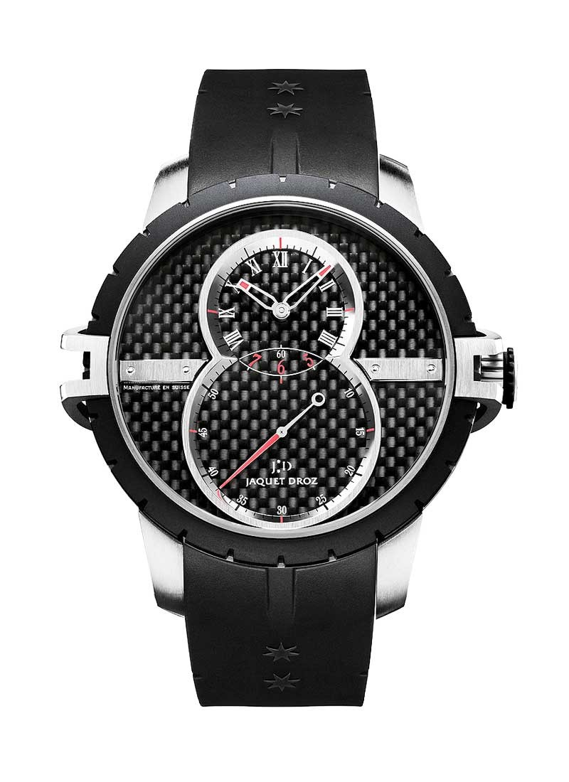 Jaquet Droz Grande Seconde in Titanium with Black Rubber Coated Steel