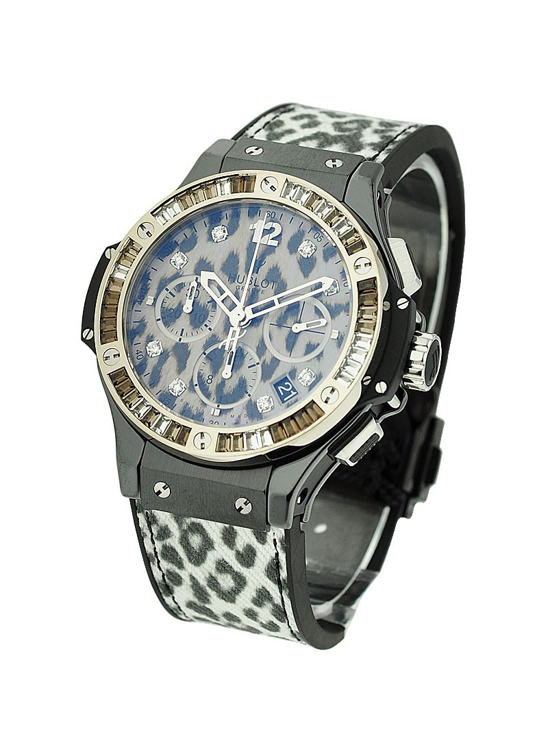 Hublot Big Bang Snow Leopard - 48 Bageutte Diamond Bezel
