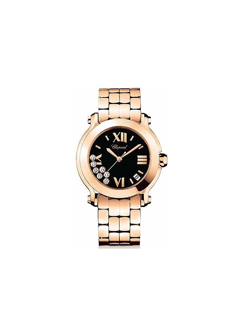 Chopard Happy Sport II Round 36mm Ladies Quartz in Rose Gold