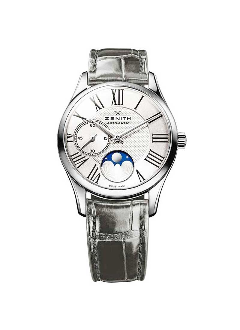 Zenith Elite Lady Ultra Thin Moonphase in Steel