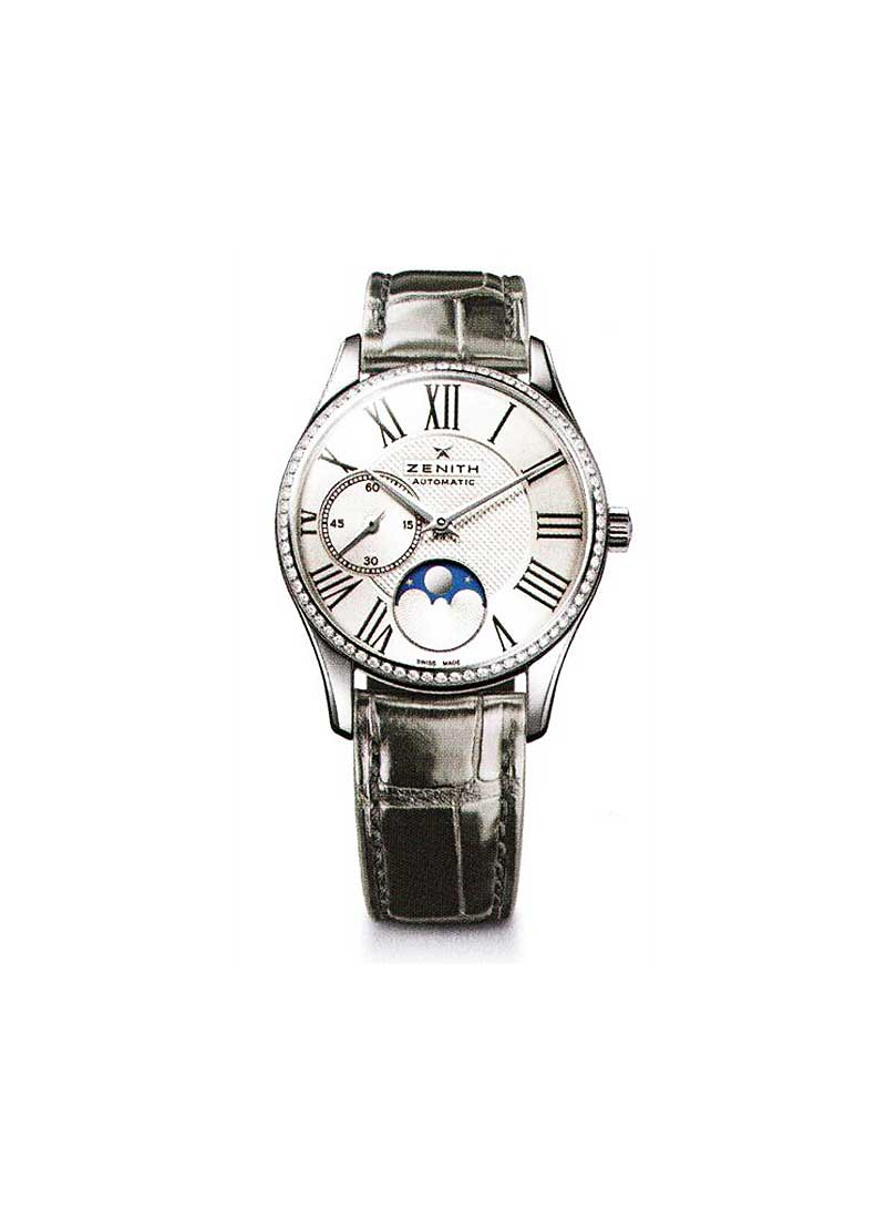 Zenith Elite Lady Ultra Thin Moonphase Stainless Steel