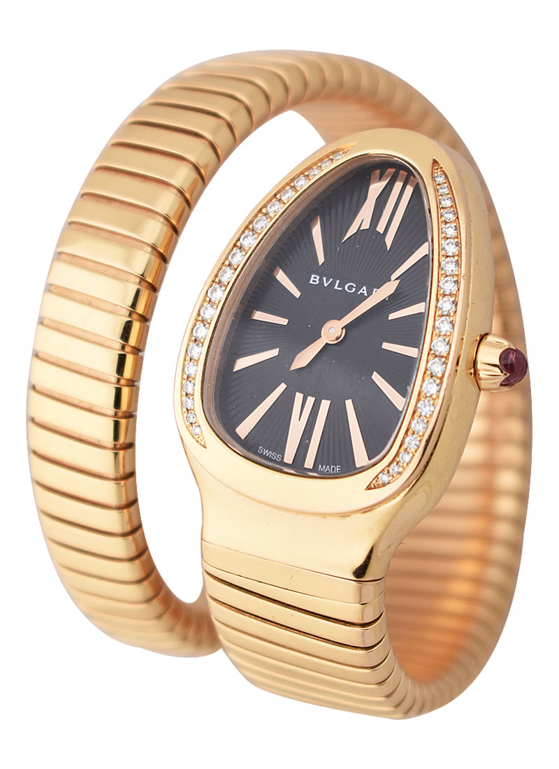 Bvlgari Serpenti Spiga in Rose Gold with Diamond Bezel
