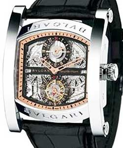 704c99dbde0 Assioma Multicomplication Men s Automatic in Platinum on Black Crocodile  Strap with Skeleton Dial