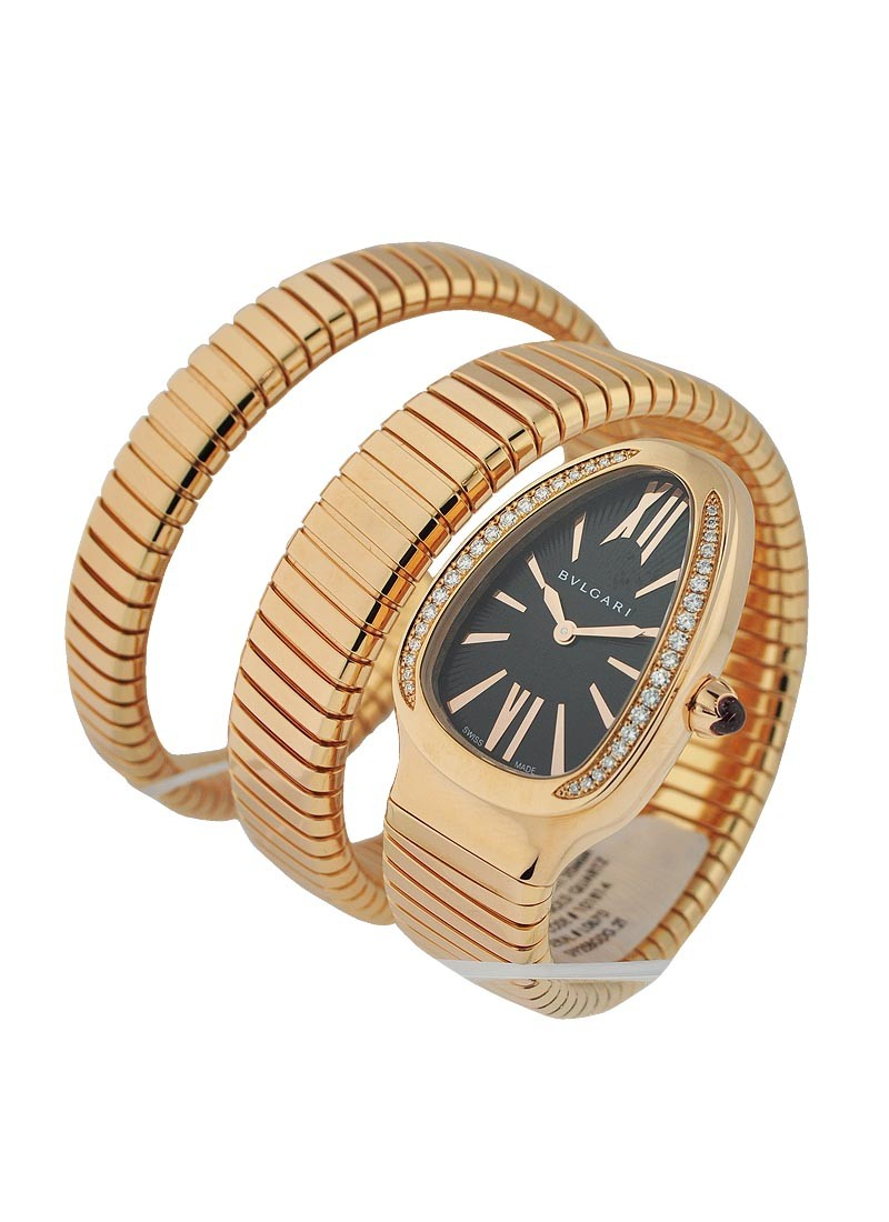 Bvlgari Serpenti DoubleTubogas in Rose Gold with Diamond Bezel