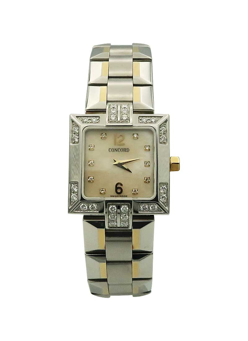 Concord La Scala Square Ladies Quartz in 2-Tone with Diamonds