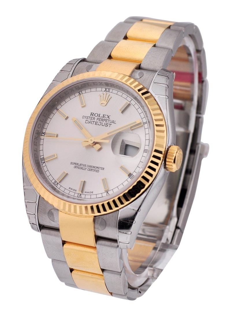 Rolex Used Datejust 36mm in 2 Tone with Fluted Bezel