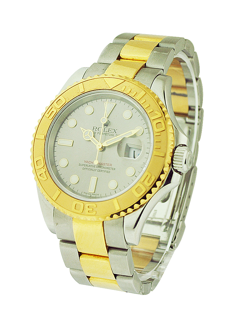 Rolex Used Yacht-master 2-Tone Large Size with Yellow Gold Bezel