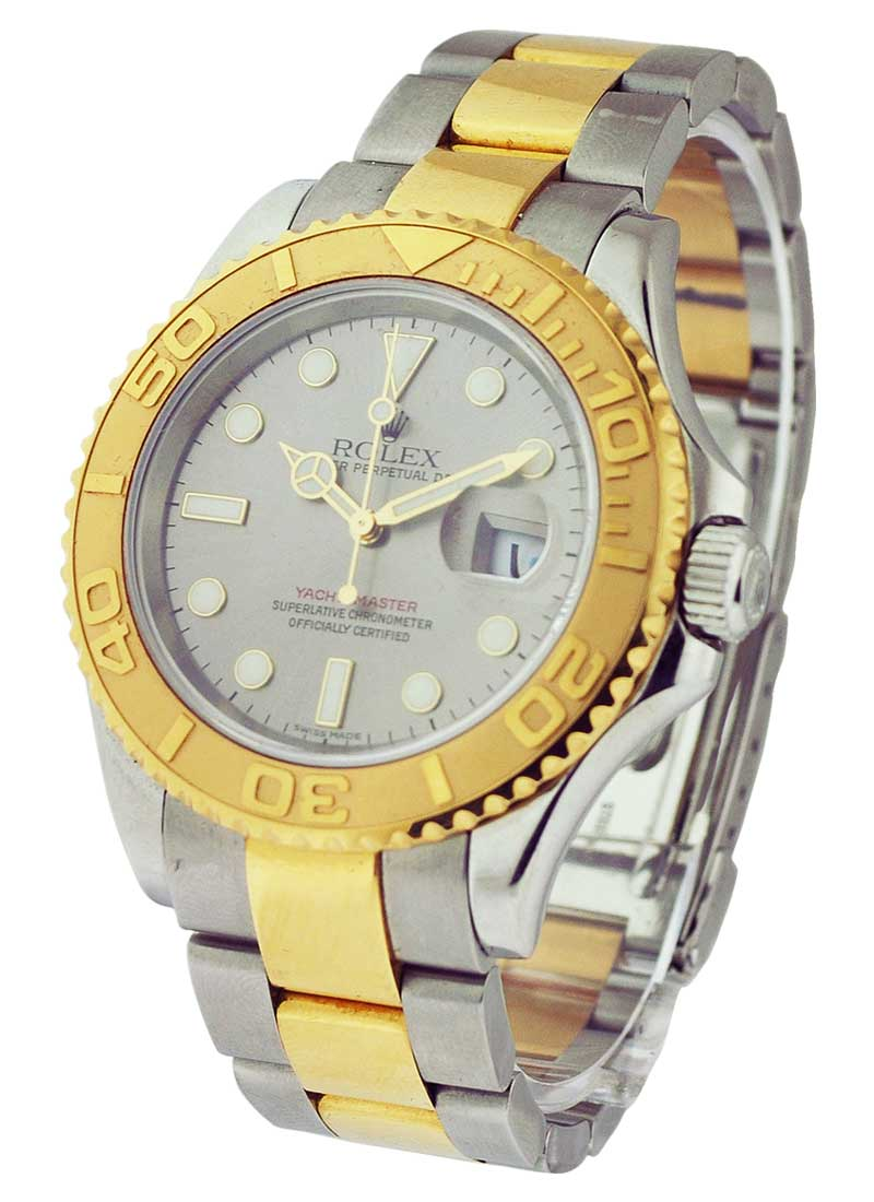 Pre-Owned Rolex Yacht-master Large Size  in Steel with Yellow Gold Bezel