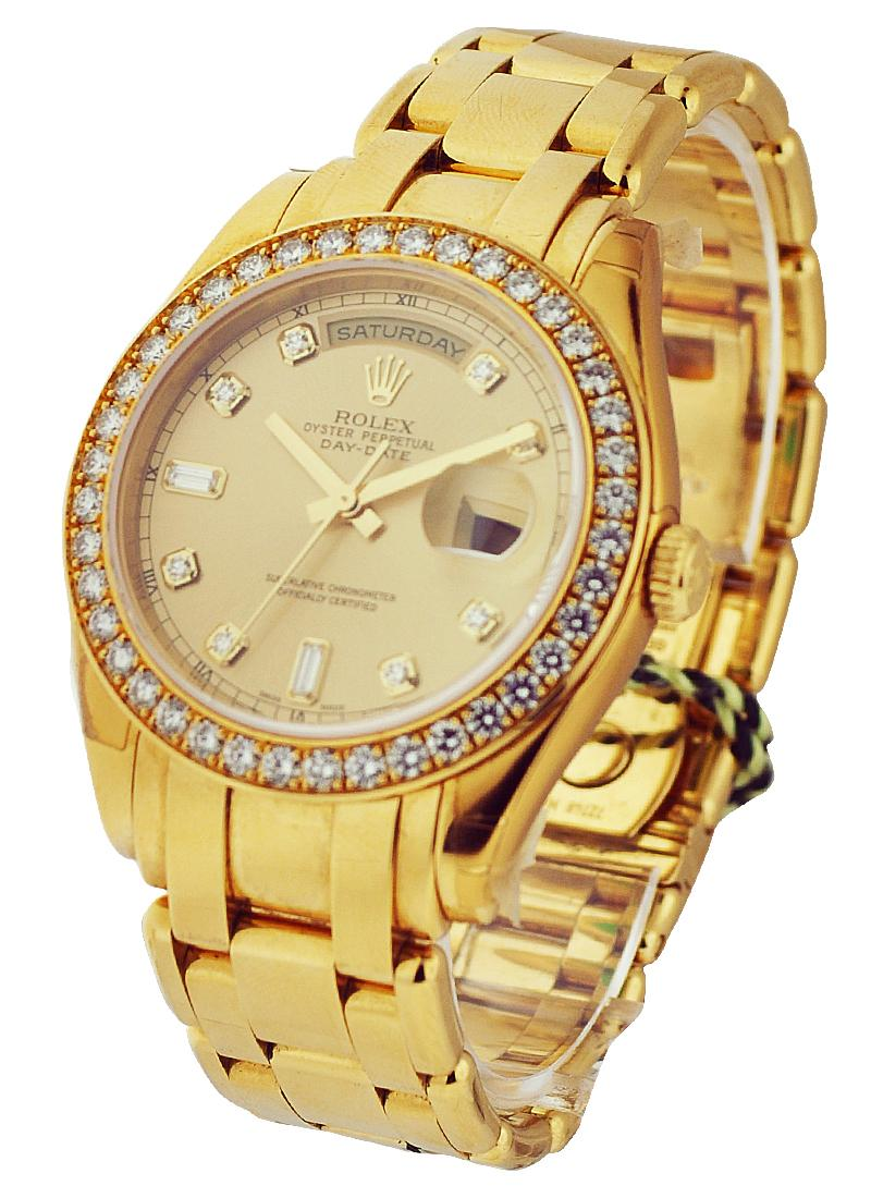 Pre-Owned Rolex Masterpiece - Yellow Gold Diamond Bezel