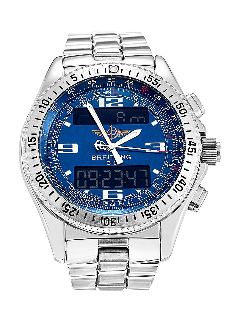 Breitling B-1 Digital Chronograph in Steel