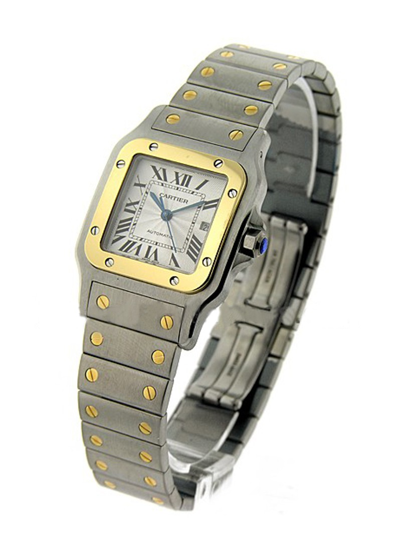 Cartier Santos Galbee TwoTone in Steel and Yellow Gold Bezel