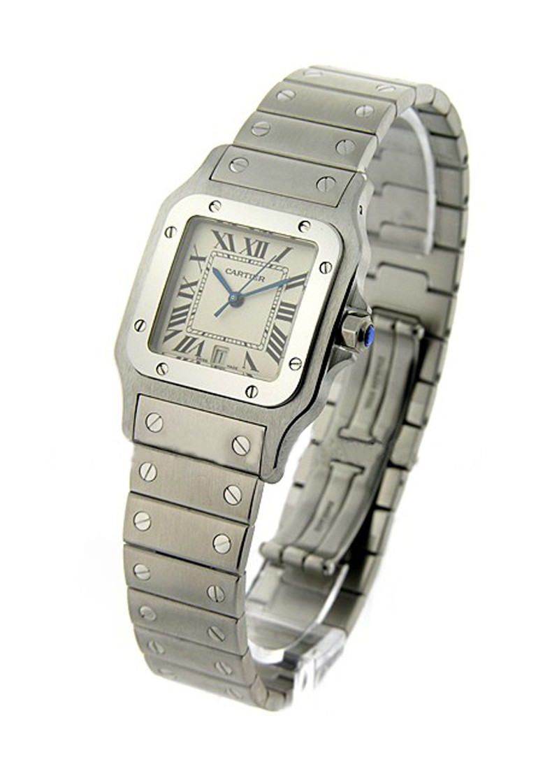 Cartier  Cartier Santos Square Steel Large Size Quartz