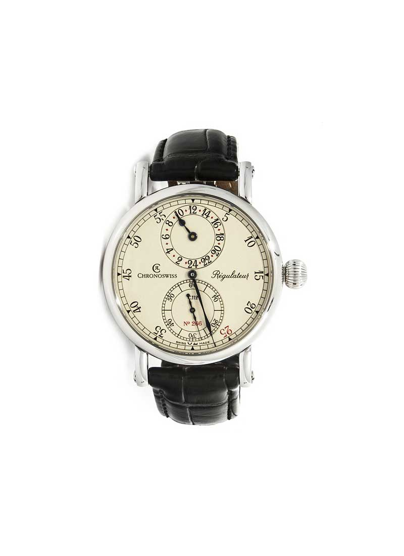 Chronoswiss Regulateur 24 Mens 40mm Automatic in Steel