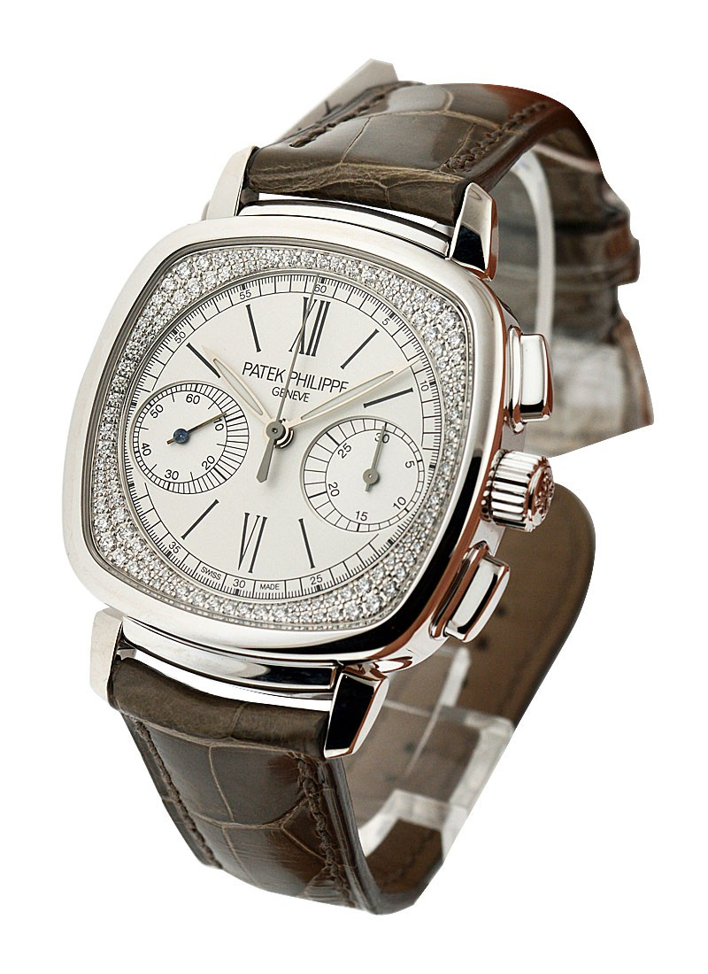 Patek Philippe 7071G Lady's First Chronograph with Diamond Flange Dial