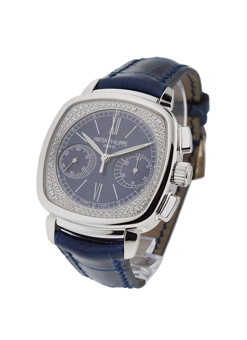 Patek Philippe 7071G Lady's Chronograph with Diamond Flange Dial